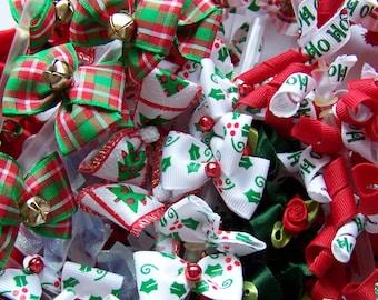 Christmas Dog Bows Grooming collar bows large bows