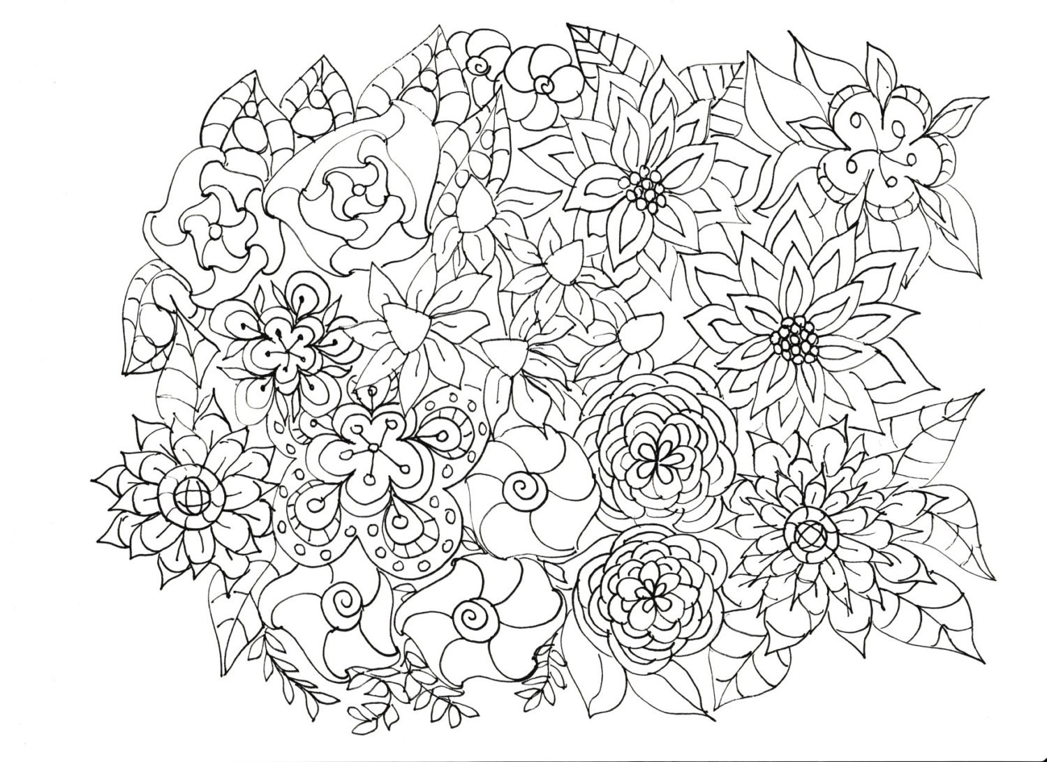 plants coloring pages Adult Coloring Pages Flowers, Plants, Garden plants coloring pages