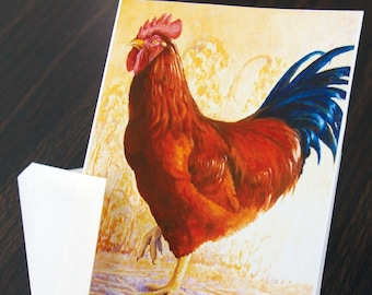 Note Card - Red Rooster Stationery