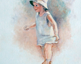 Note Card - Girl with Hat -