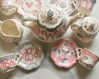 Little Girls Tea Set Etsy