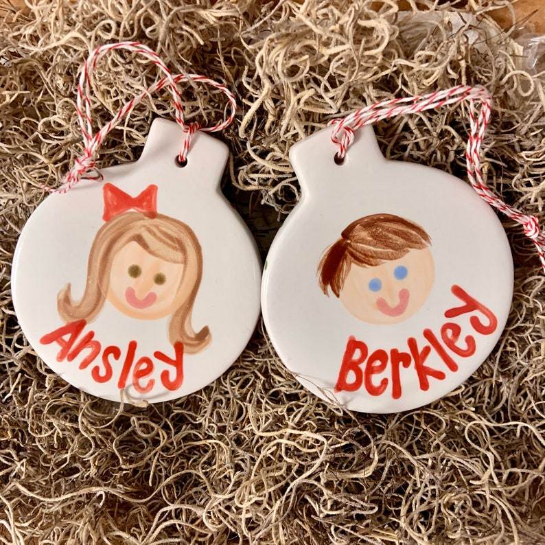 Children's Personalized Christmas ornament / First image 0