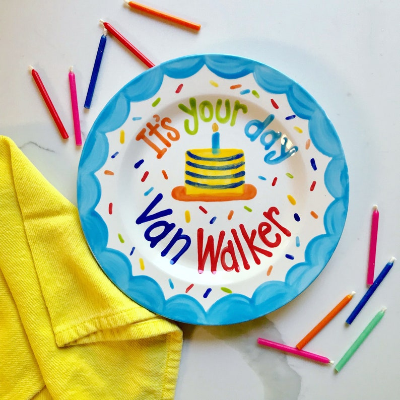 Boys Birthday Plate // Its Your Day Personalized First image 0