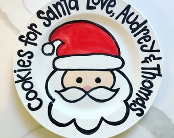 Cookies for Santa personalized plate / Christmas Plate