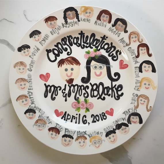 Teacher Wedding Shower Gift Plate Personalized And Customized Etsy