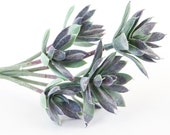 Fake succulents - Artificial Agave Succulent - 6 Sedum Succulents on Stem - Succulent, Succulents, Artificial Flowers - ITEM 0909