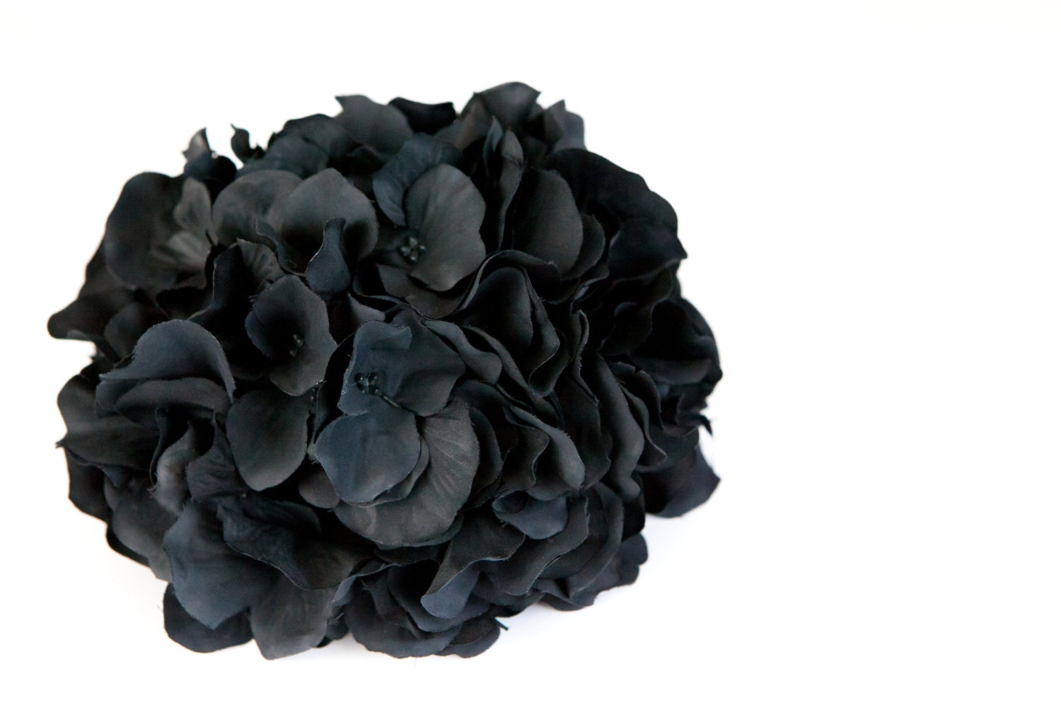 Over 90 Hydrangea Petals In Black Silk Flowers Artificial Etsy