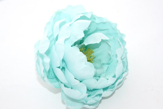 Gorgeous silk peony in mint blue 5 inches silk flowers etsy image 0 mightylinksfo