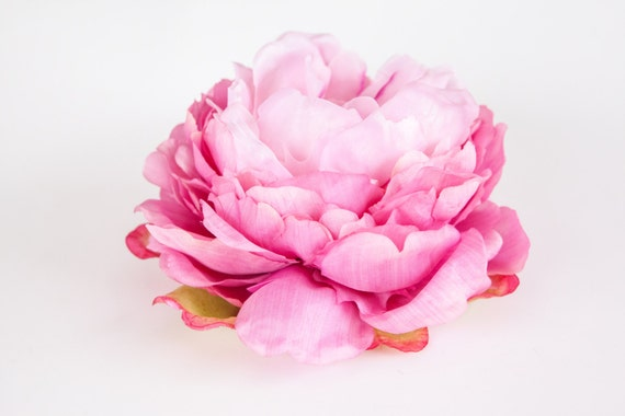 Peony bombshell in two tone pink 7 inches silk flowers etsy image 0 mightylinksfo