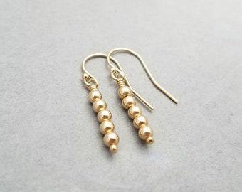 Gold Filled Beaded Earrings