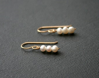 14k Gold Filled Earrings with Freshwater Pearls