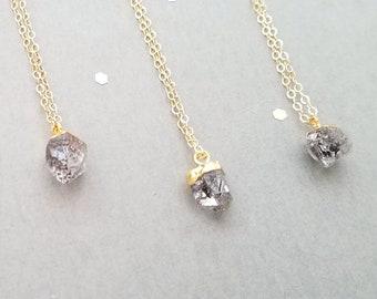 Gold Herkimer Diamond Neclace