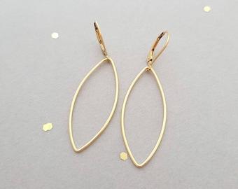 14k yellow gold filled open hoop earring earrings, french wire, or leverback, lightweight earrings
