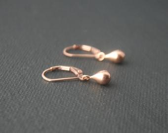 Rose Gold Teardrop Earrings