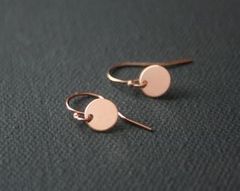 Tiny 14k Rose Gold Filled Earrings