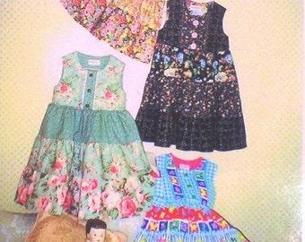 My original jumper-dress pattern for little girls in 7 sizes SCRAP-BAG tier dress