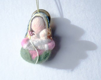 Needle Felted Mother and Child: Spring, by ElaineMary