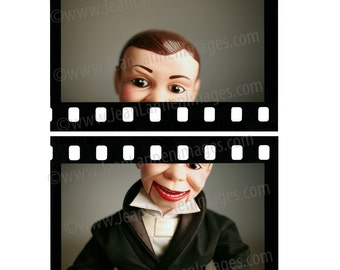 Charlie Speak Up -8x10 Photograph - Vintage Ventriloquist Dummy Puppet Mannequin Tuxedo in Hollywood Oscars Film Movies by Jean Lannen Art