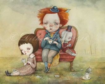 Tea Party - limited edition giclee print 15/40