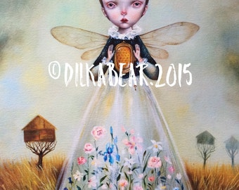 BEE QUEEN limited edition 32/50 giclee print