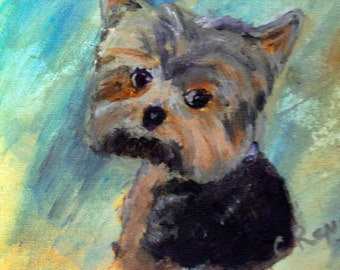 commissioned Pet portraits Christmas memorial fur baby I love my pet