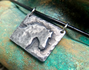 Horse Necklace, Morning Mist Pendant, Horse Jewelry