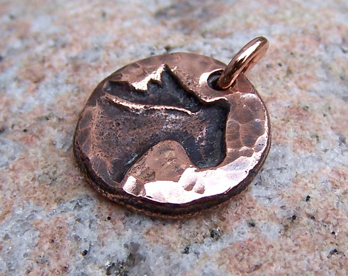Copper Little Horse Head Charm, Horse Lover Gift
