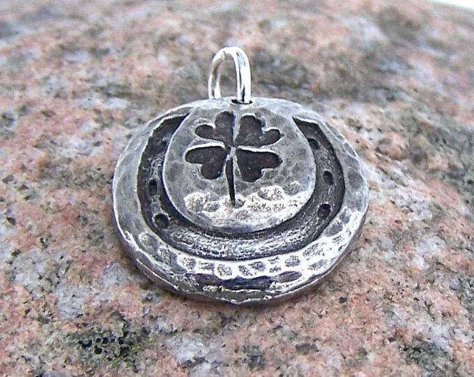 Horseshoe Clover Charm, Double Your Luck