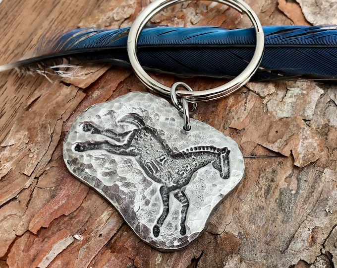 Spirit Horse Key Chain, Running Pony Key Ring