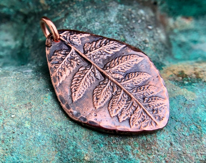 Copper Fern Pendant, Woodland Pendant