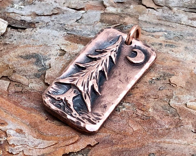 Copper Pine Tree Pendant
