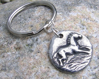 Happy Horse Keychain, Running Horse Key Ring