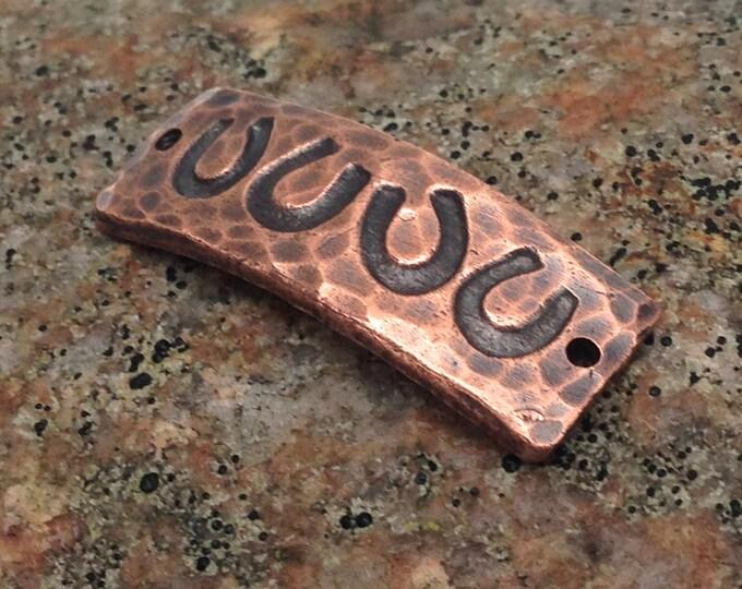 Copper Four Horseshoes Bracelet Link