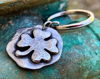 Four Leaf Clover Keychain, Shamrock Key Ring