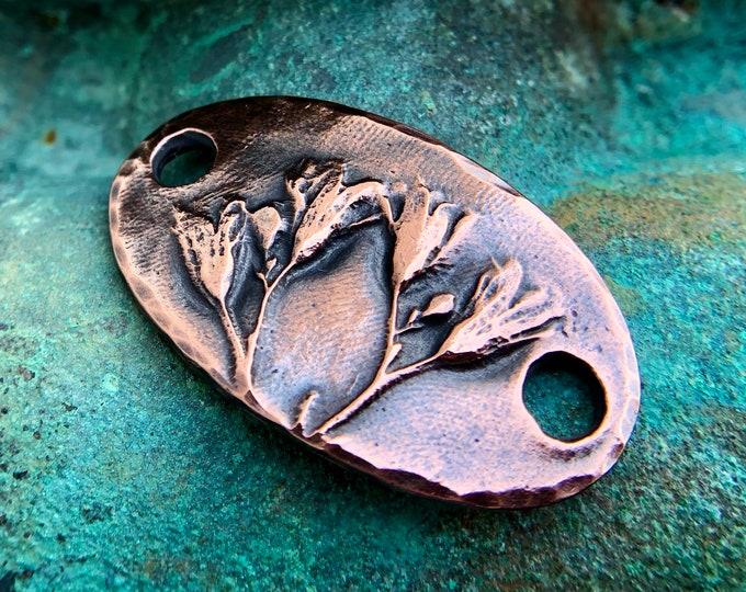 Bloom Bracelet Link, Botanical Floral Connector