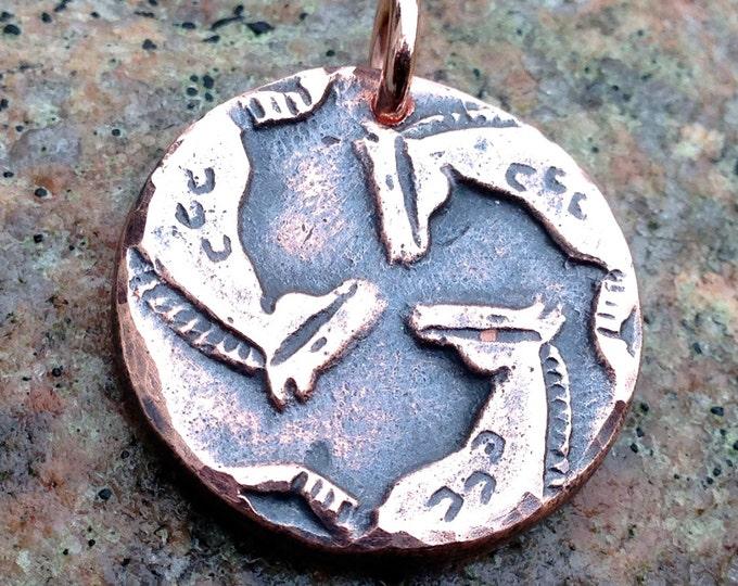 Spirit Horse Pendant, Rustic Horse Jewelry