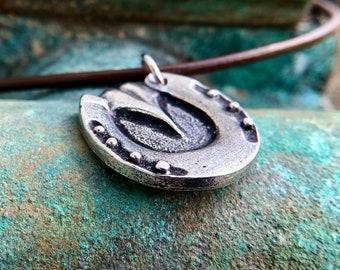 Detailed Horse Hoof Necklace, Horse Shoe Pendant