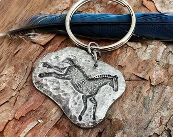 Spirit Horse Key Chain, Running Pony Key Ring