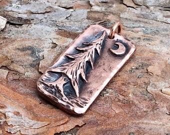 Copper Pine Tree Pendant