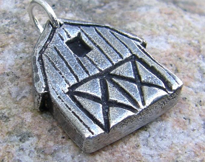 Barn Pendant, Barn Charm, Farm Jewelry