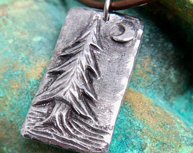 Pine Tree Necklace, Evergreen Pendant