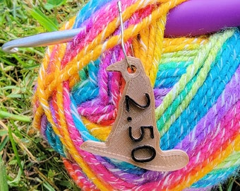 Size Matters Tags - Crochet Hook Size Tags - Witch or Wizard Hat