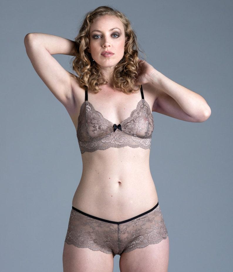 SALE Lace Bra Tan Nude  Sassafras  Bralette with  f63ea3e3a