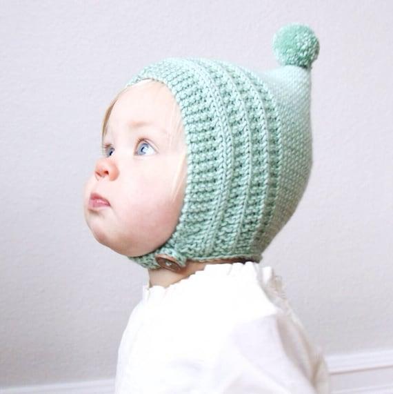 KNITTING PATTERN PDF File Knit Pixie Bonnet Pattern Baby | Etsy
