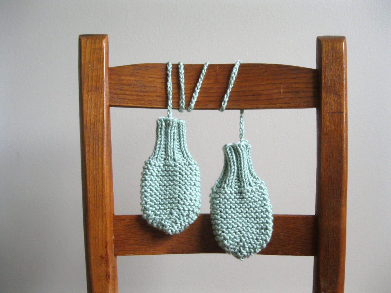 Knitting Pattern Pdf File Pattern For Knit Baby Mitts Etsy
