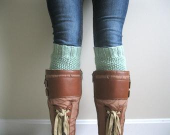 KNITTING PATTERN PDF File - Boot Cuff Knitting Pattern - Leg Warmer Knitting Pattern - Beginner Knitting Pattern