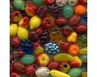 Fruit Beads Carmen Miranda Czech Glass NICE MIX