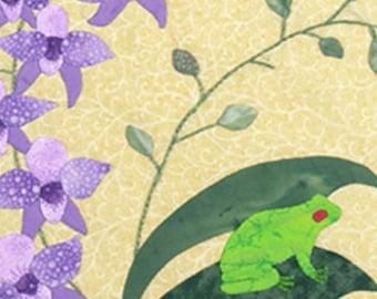 Orchid Oasis Applique quilt pattern