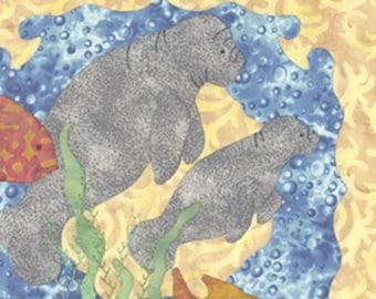 Manatee Cove Applique quilt pattern