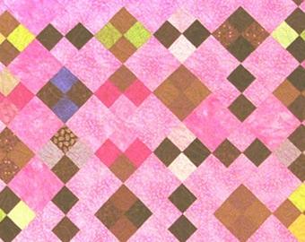 modern patchwork quilt pattern -Chocolate Chip